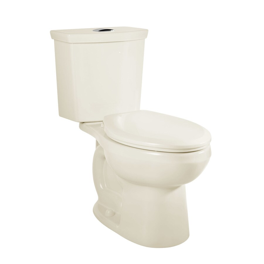 American Standard H2Option Linen WaterSense Labeled Dual Elongated Chair Height 2-piece Toilet 12-in Rough-In Size