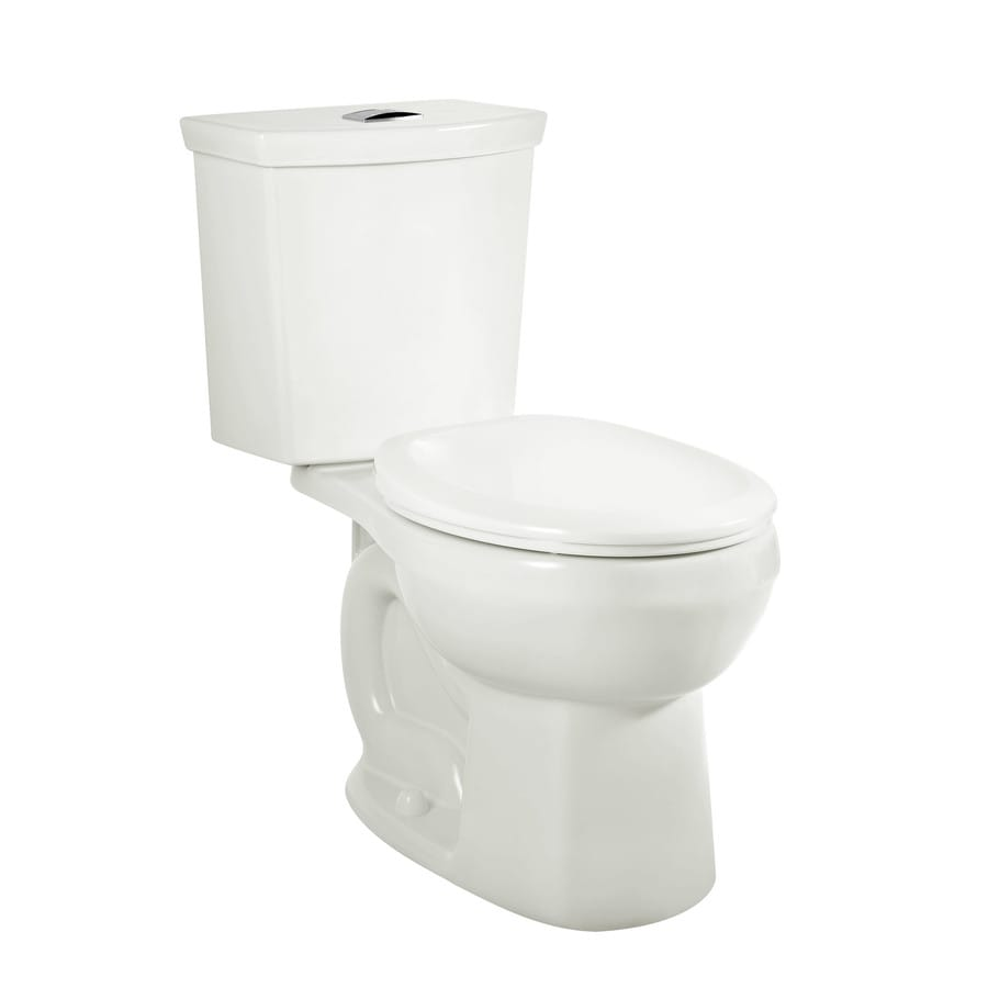 American Standard H2Option White WaterSense Labeled Dual Elongated Standard Height 2-piece Toilet 12-in Rough-In Size