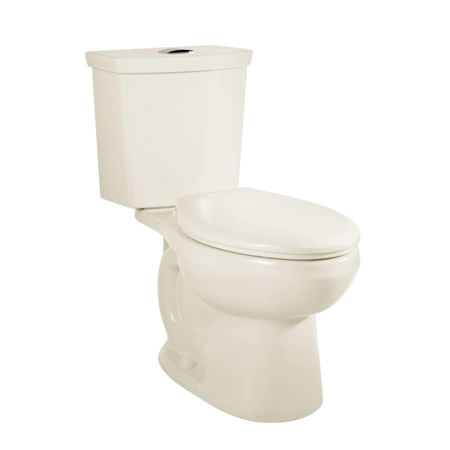 American Standard H2Option 1.28-GPF (4.85-LPF) Linen Dual Flush Elongated Chair Height 2-piece Toilet