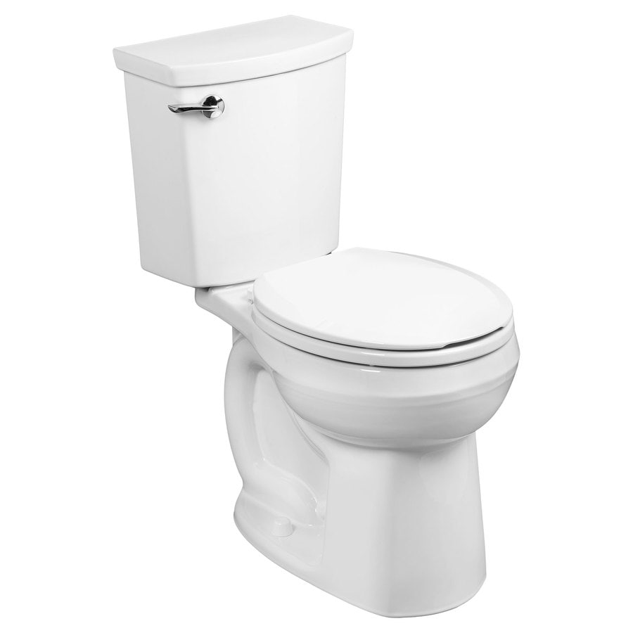 American Standard H2Option White WaterSense Labeled  Round Standard Height 2-piece Toilet 12-in Rough-In Size