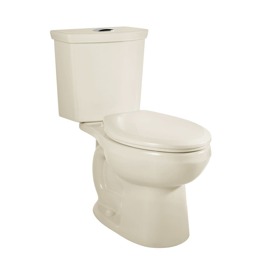 American Standard H2Option Linen WaterSense Labeled Dual Elongated Standard Height 2-piece Toilet 12-in Rough-In Size