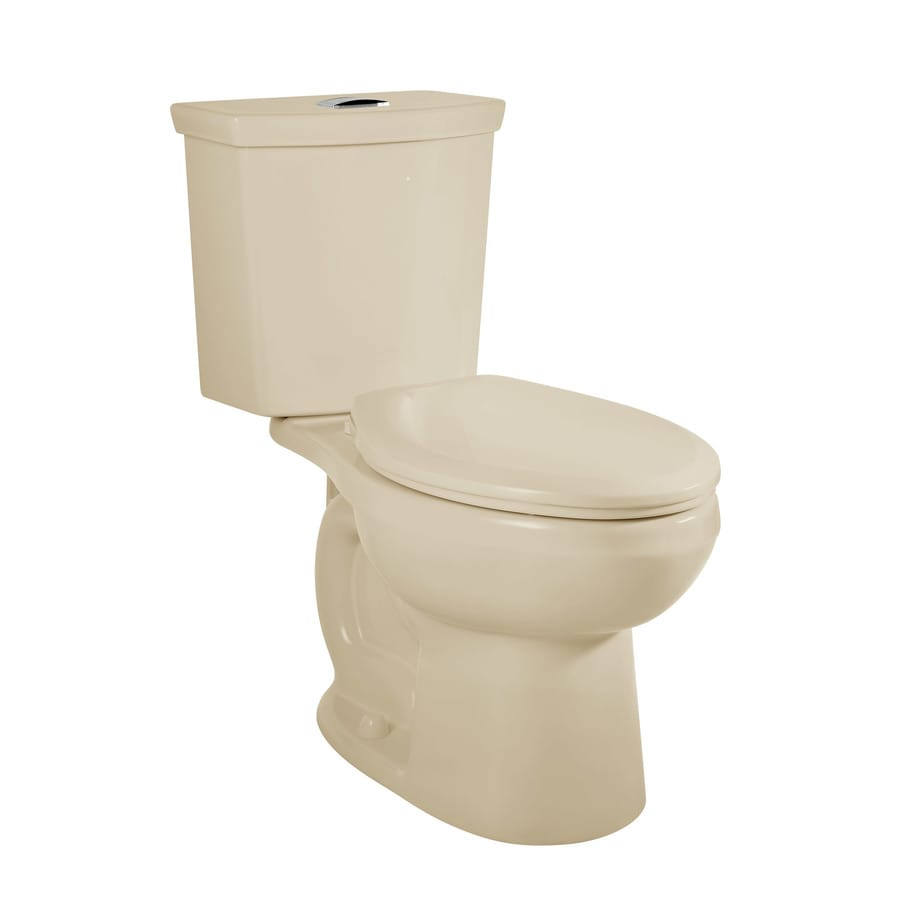 American Standard H2Option Bone WaterSense Labeled Dual Elongated Standard Height 2-piece Toilet 12-in Rough-In Size
