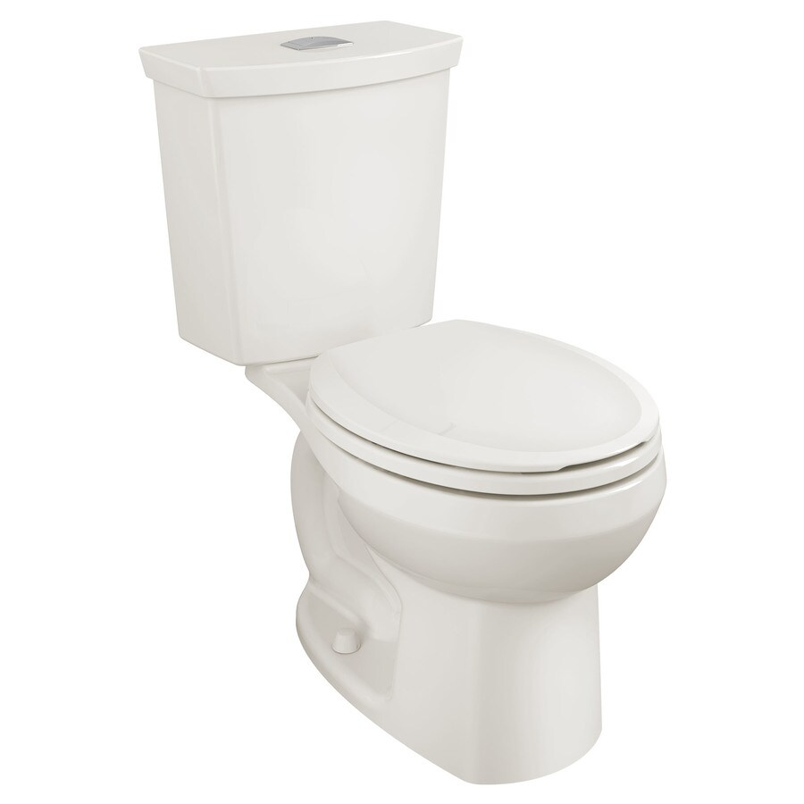 American Standard H2Option 1.28-GPF Linen WaterSense Dual-Flush Round Standard Height 2-Piece Toilet
