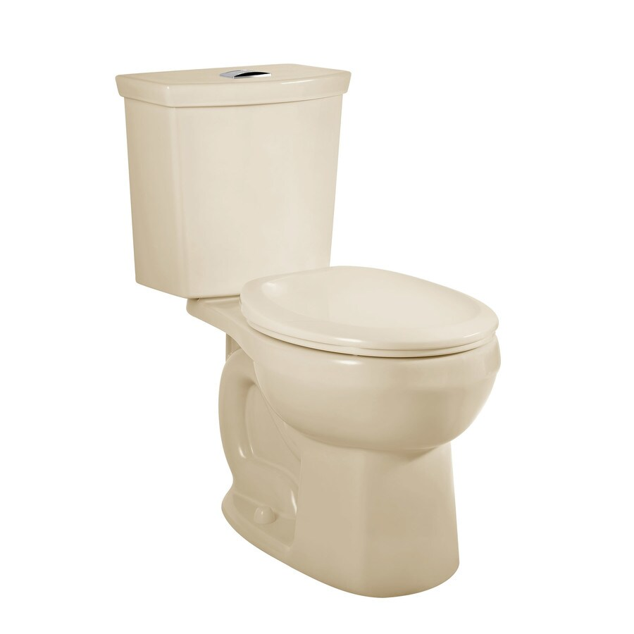 American Standard H2Option Bone WaterSense Labeled Dual Round Standard Height 2-piece Toilet 12-in Rough-In Size