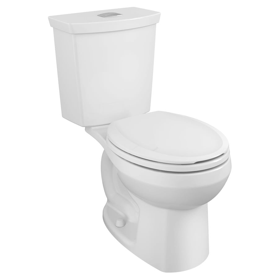 American Standard H2Option White 1.28-GPF 12 Rough-In WaterSense Round Dual-Flush 2-Piece Standard Height Toilet