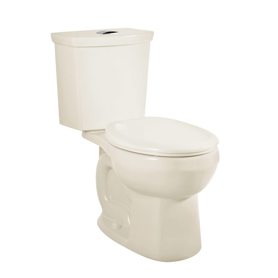 American Standard H2Option Linen 1.28-GPF 12 Rough-In WaterSense Round Dual-Flush 2-Piece Standard Height Toilet
