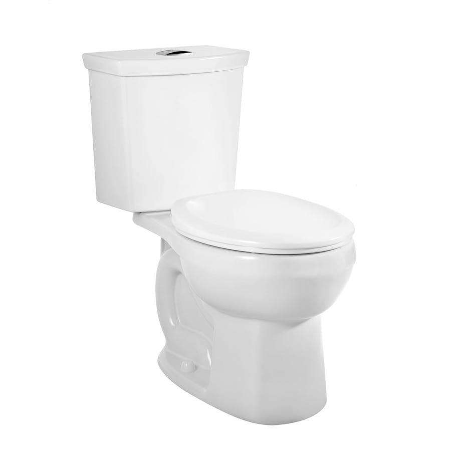 American Standard H2Option 1.28-GPF (4.85-LPF) White Dual Flush Round 2-piece Toilet
