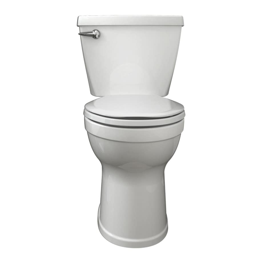 American Standard Champion 1.6-GPF White Elongated Chair Height 2-Piece Toilet