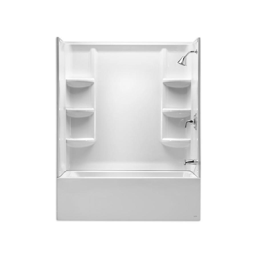 American Standard Studio Arctic Acrylic Bathtub Wall Surround (Common:  60 In X 32