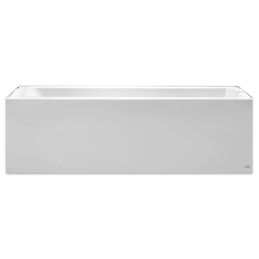 American Standard Studio 60-in Arctic Acrylic Skirted Bathtub with Right-Hand Drain