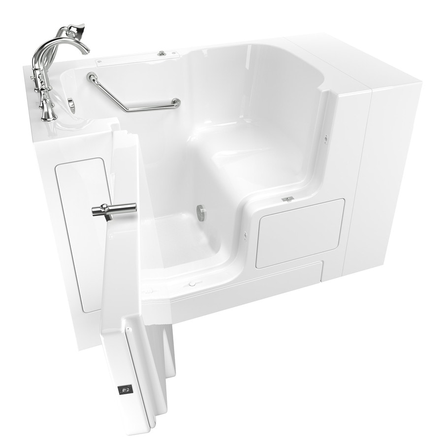 Wonderful American Standard 52 In White Gelcoat/Fiberglass Walk In Bathtub With Left