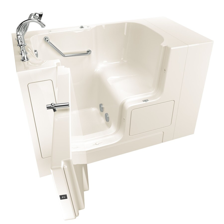 American Standard 52-in Linen Gelcoat/Fiberglass Walk-In Bathtub with Left-Hand Drain