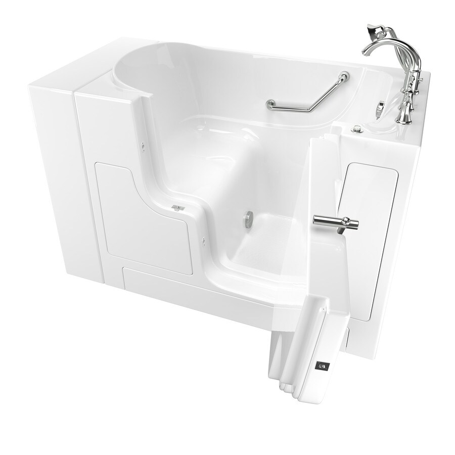 American Standard 52 in White Gelcoat Fiberglass Walk In Bathtub with Right. Shop American Standard 52 in White Gelcoat Fiberglass Walk In
