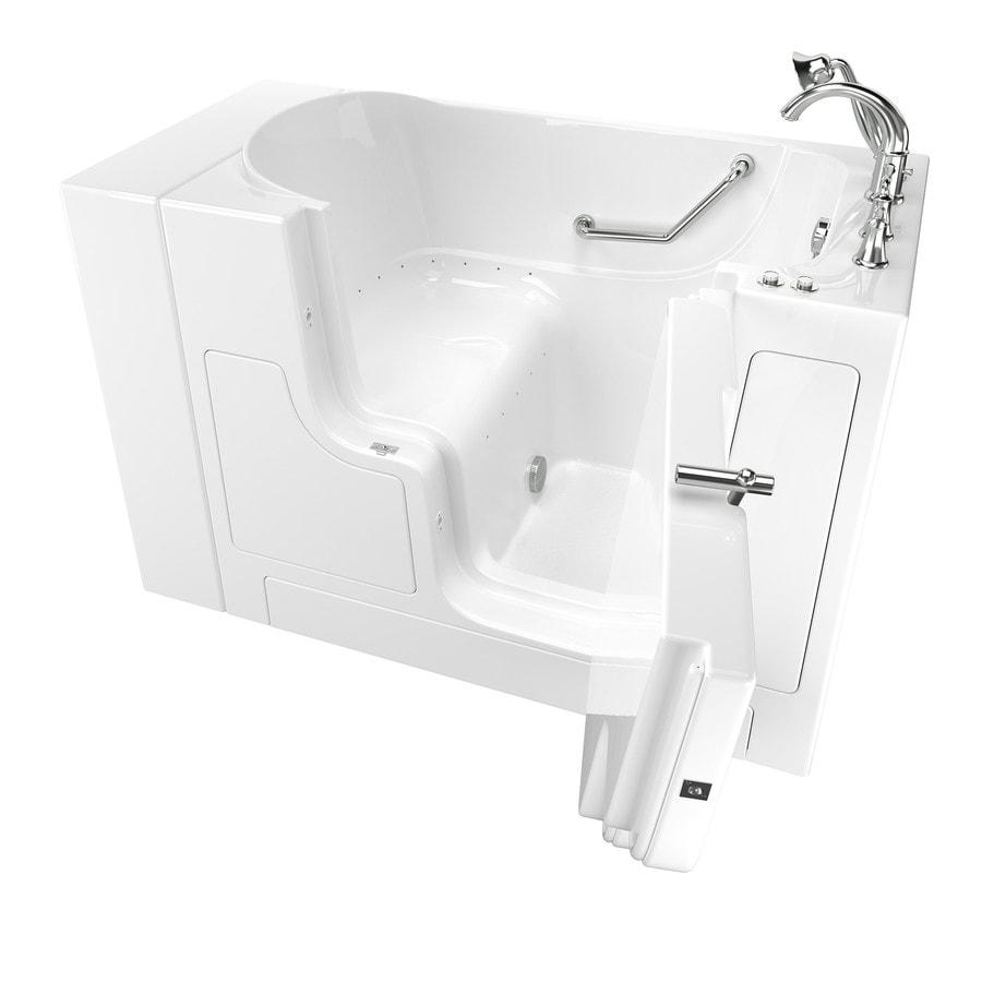 American Standard 52-in White Gelcoat/Fiberglass Walk-In Air Bath with Right-Hand Drain