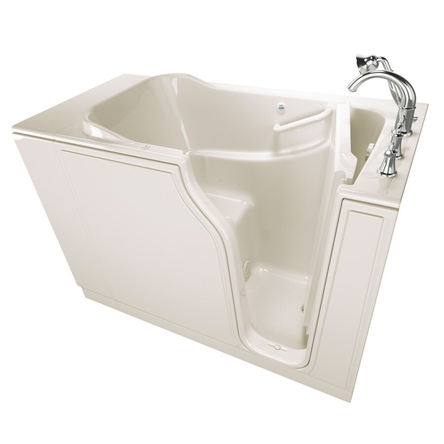 American Standard 51.5-in Linen Gelcoat/Fiberglass Walk-In Air Bath with Right-Hand Drain