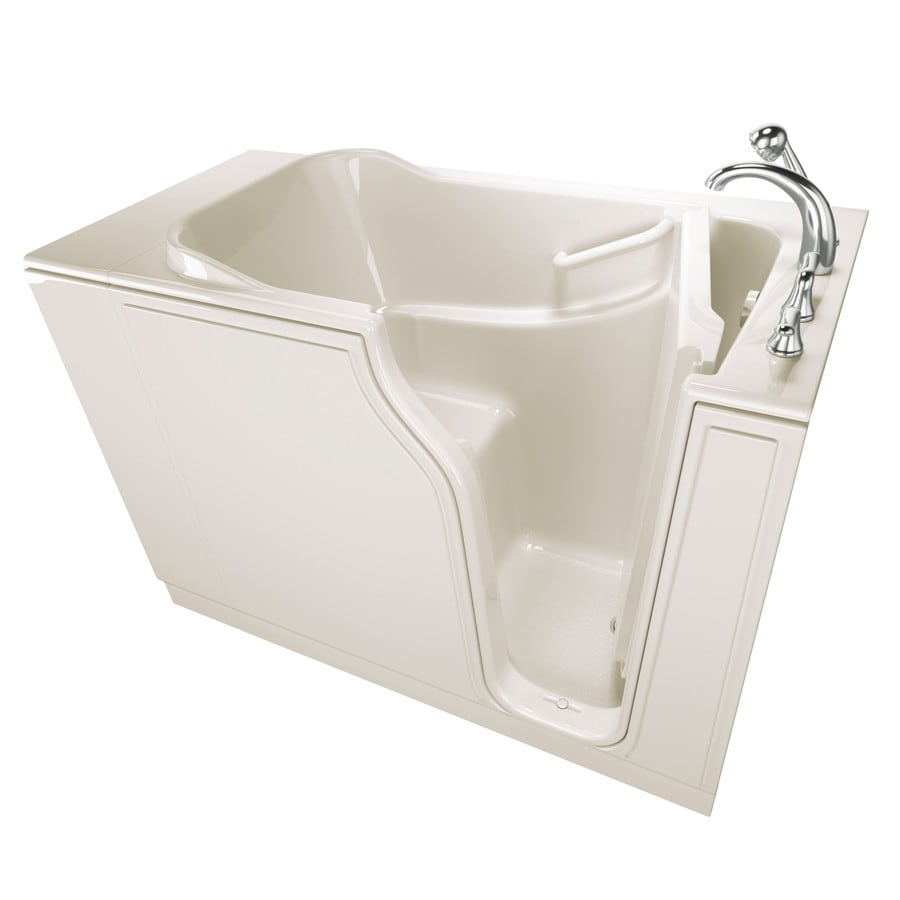 Safety Tubs 51.5-in Biscuit Gelcoat/Fiberglass Walk-In Bathtub with Right-Hand Drain