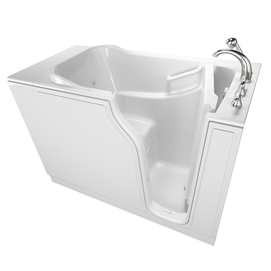 Safety Tubs 51.5-in White Gelcoat/Fiberglass Walk-In Whirlpool Tub And Air Bath with Right-Hand Drain