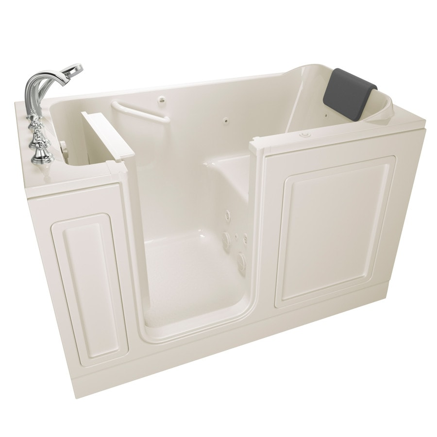 American Standard 59.5-in Linen Acrylic Walk-In Whirlpool Tub with Left-Hand Drain