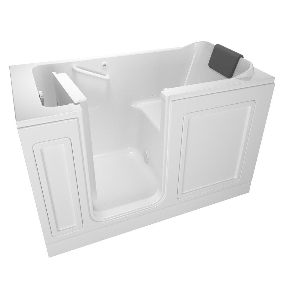American Standard 59.5-in White Acrylic Walk-In Bathtub with Left-Hand Drain
