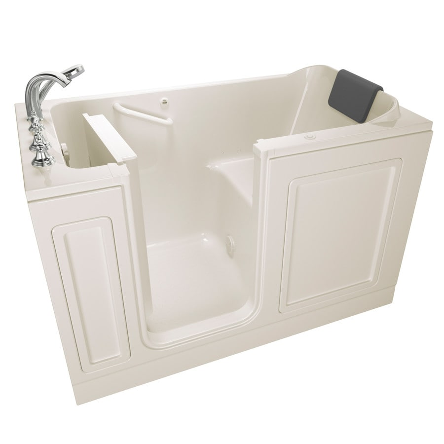 American Standard 59.5-in Linen Acrylic Walk-In Air Bath with Left-Hand Drain