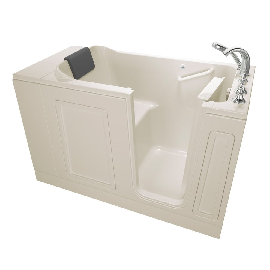 American Standard 50.5-in Linen Acrylic Walk-In Bathtub with Right-Hand Drain