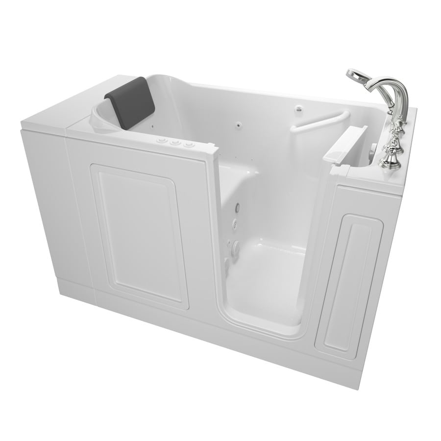 American Standard 50.5-in White Acrylic Walk-In Whirlpool Tub And Air Bath with Right-Hand Drain