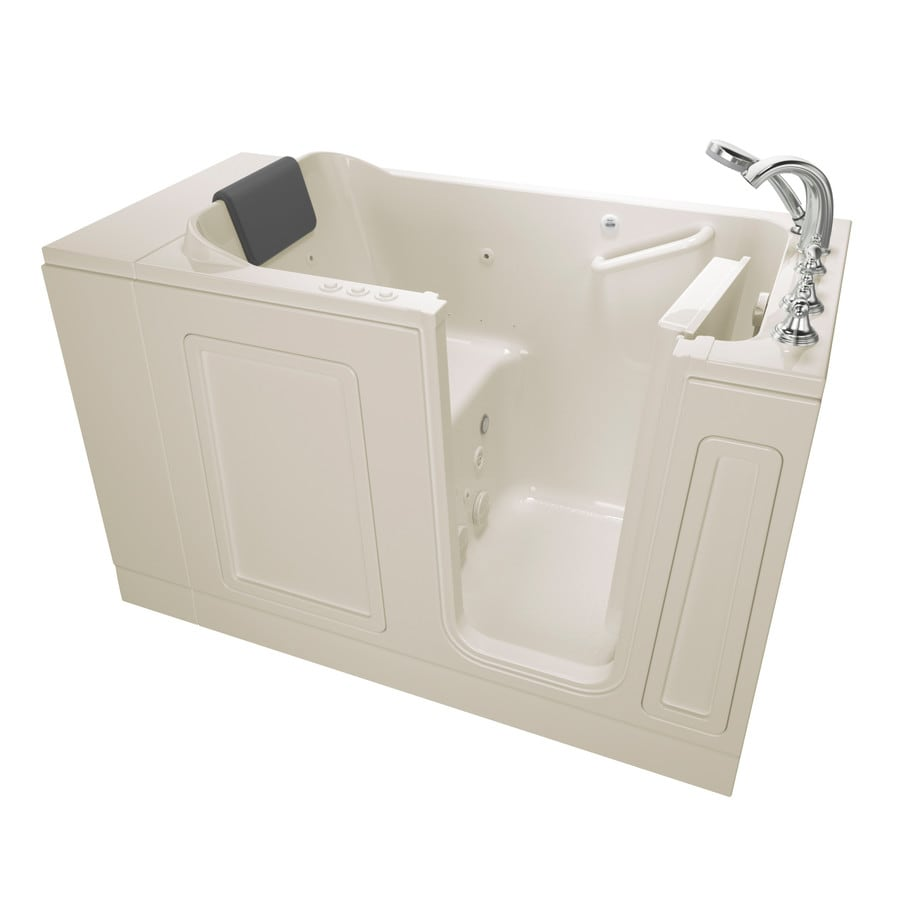 American Standard 50.5-in Linen Acrylic Walk-In Whirlpool Tub And Air Bath with Right-Hand Drain