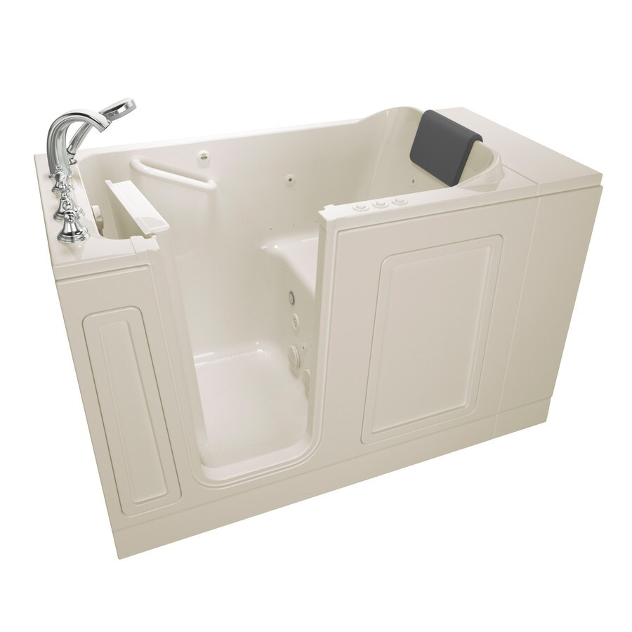 American Standard 50.5-in Linen Acrylic Walk-In Whirlpool Tub And Air Bath with Left-Hand Drain