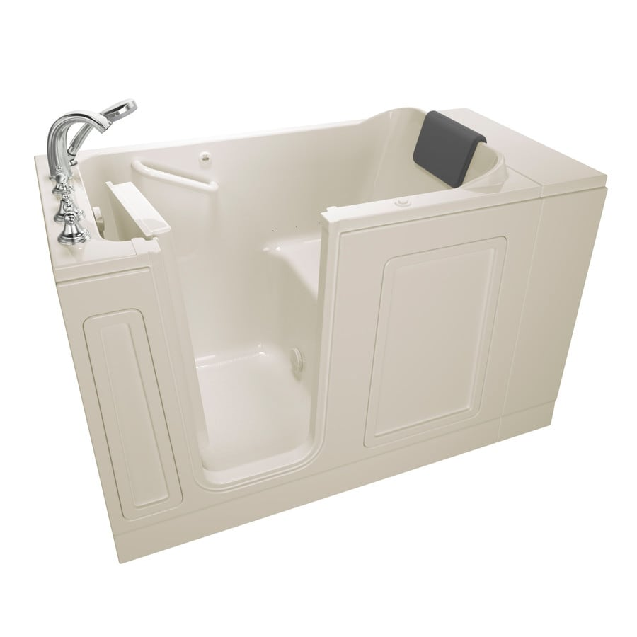 American Standard 50.5-in Linen Acrylic Walk-In Air Bath with Left-Hand Drain