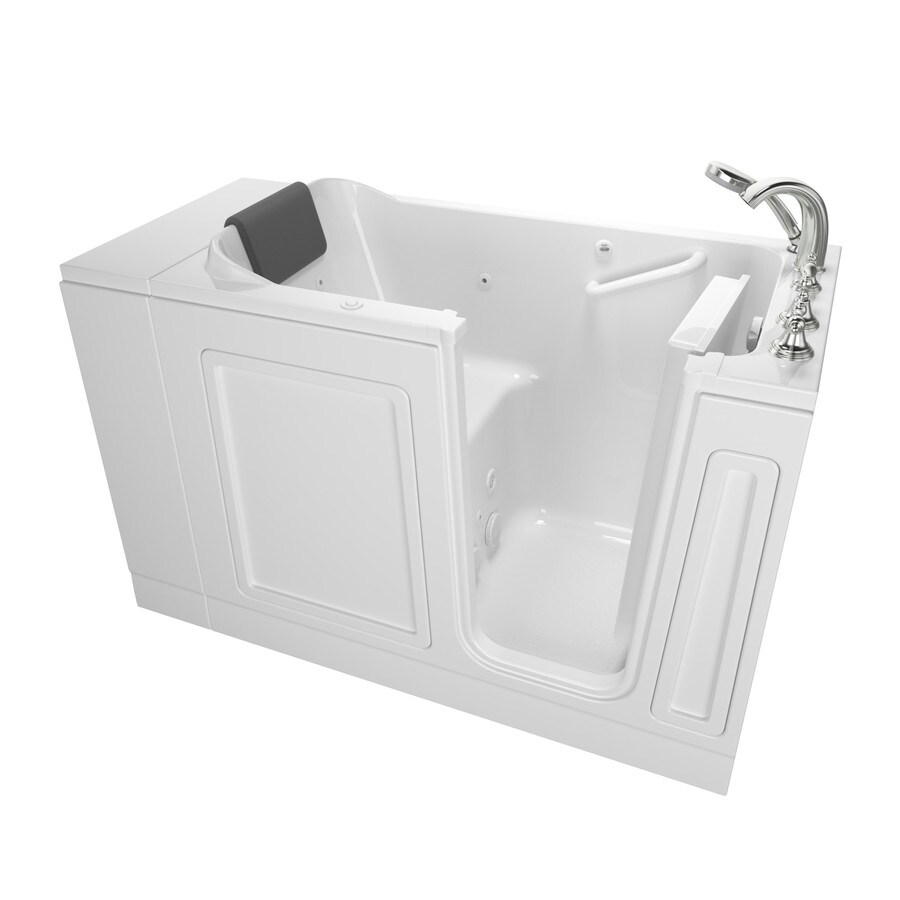 American Standard 48-in White Acrylic Walk-In Whirlpool Tub with Right-Hand Drain