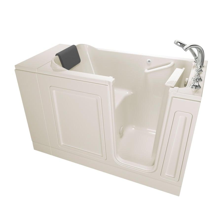 American Standard 48-in Linen Acrylic Walk-In Bathtub with Right-Hand Drain