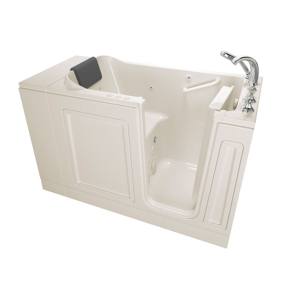 American Standard 48-in Linen Acrylic Walk-In Whirlpool Tub and Air Bath with Right-Hand Drain