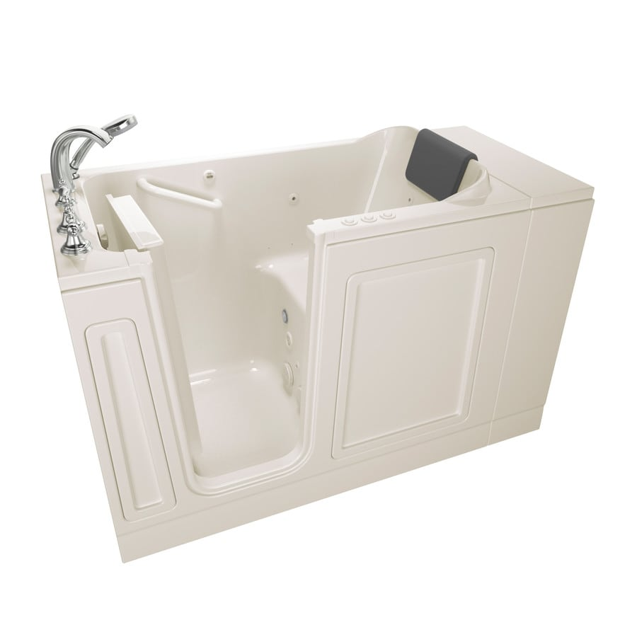 American Standard 48-in Linen Acrylic Walk-In Whirlpool Tub And Air Bath with Left-Hand Drain