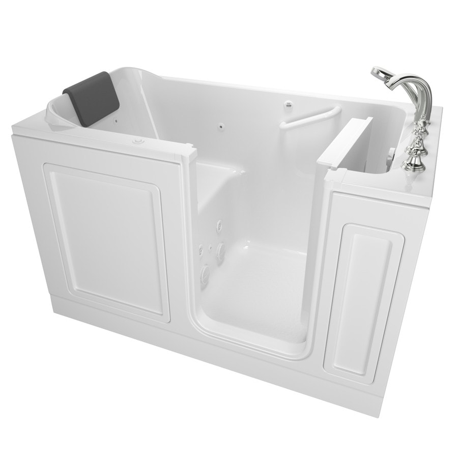 American Standard 59.5-in White Acrylic Walk-In Whirlpool Tub with Right-Hand Drain