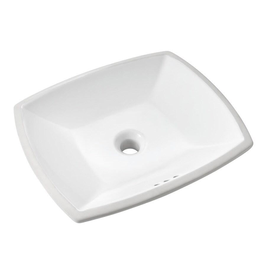 Standard bathroom sink - American Standard Edgemere White Fire Clay Rectangular Bathroom Sink