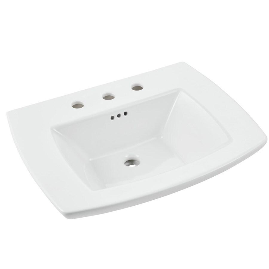 American Standard Edgemere 25-in L x 19.5-in W White Vitreous china Rectangular Pedestal Sink Top