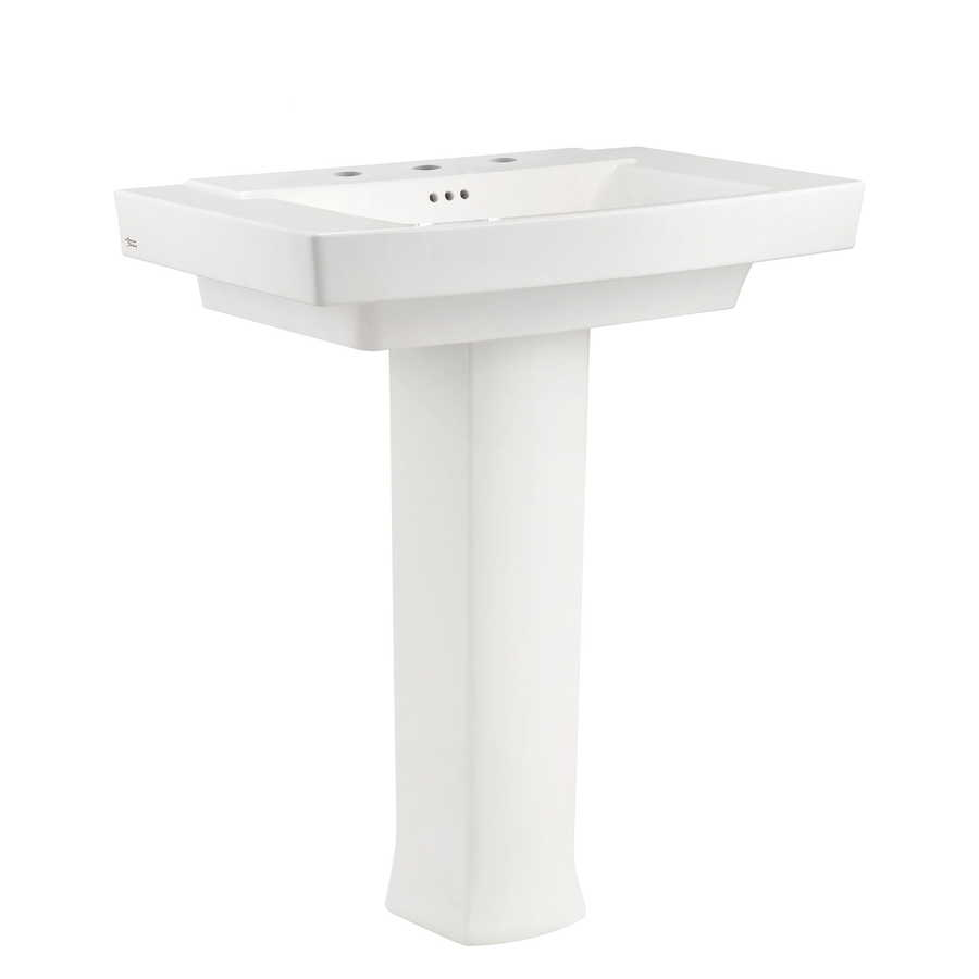 American Standard Townsend 35.125 In H White Fire Clay Pedestal Sink