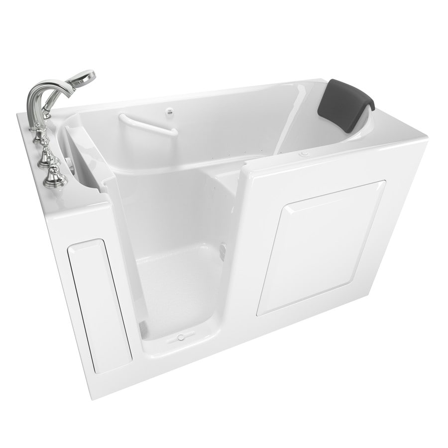 Safety Tubs 59.5-in White Gelcoat/Fiberglass Walk-In Air Bath with Left-Hand Drain