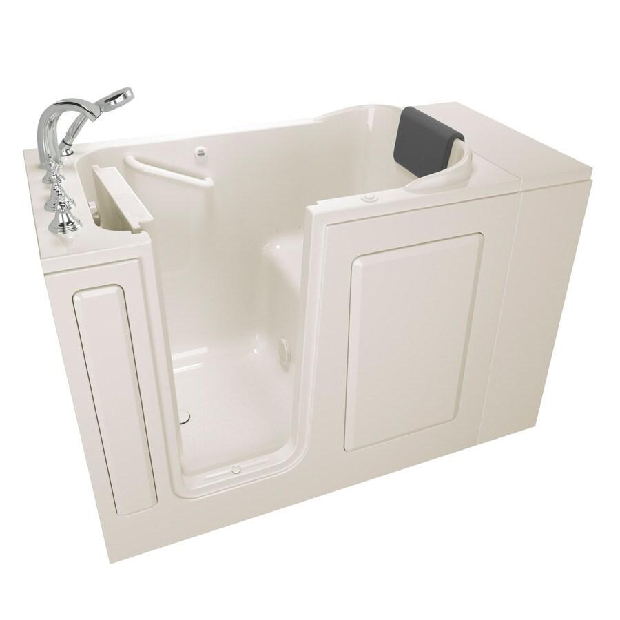 American Standard 48-in Linen Gelcoat/Fiberglass Walk-In Air Bath with Left-Hand Drain