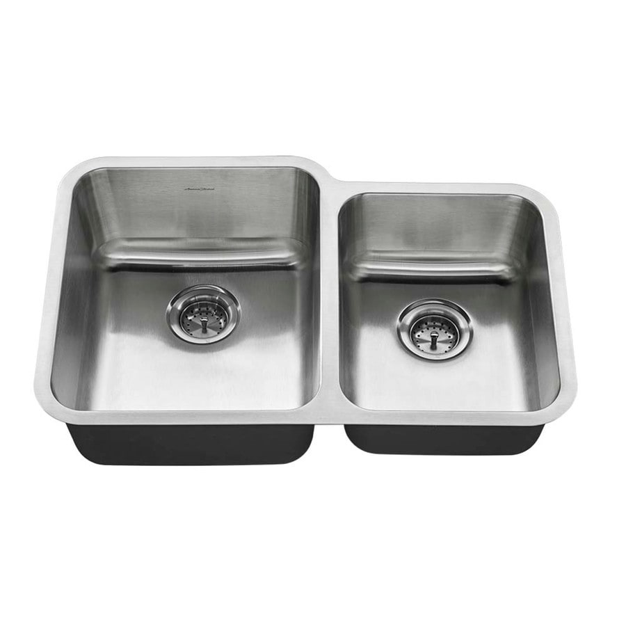 american standard offset double bowl sink kit costco shop american standard 20 in x 31 in stainless steel 380