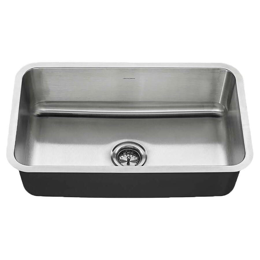Shop american standard 18 0 in x 30 0 in single basin stainless steel undermount residential - American standard kitchen sink ...
