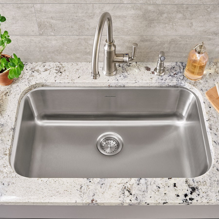 American Standard 17.75-in x 29.75-in Stainless Steel Single-Basin Undermount Residential Kitchen Sink