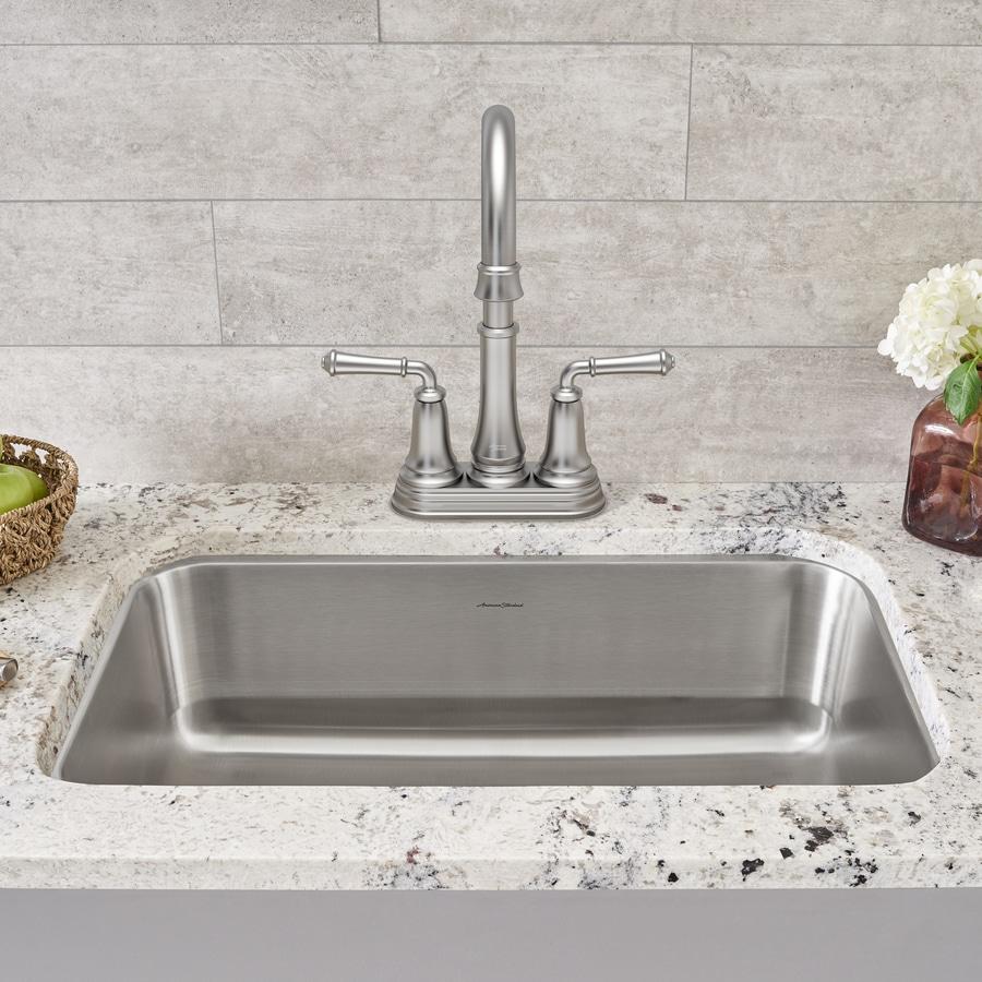 American Standard 17.75-in x 23.375-in Stainless Steel Single-Basin Undermount Residential Kitchen Sink