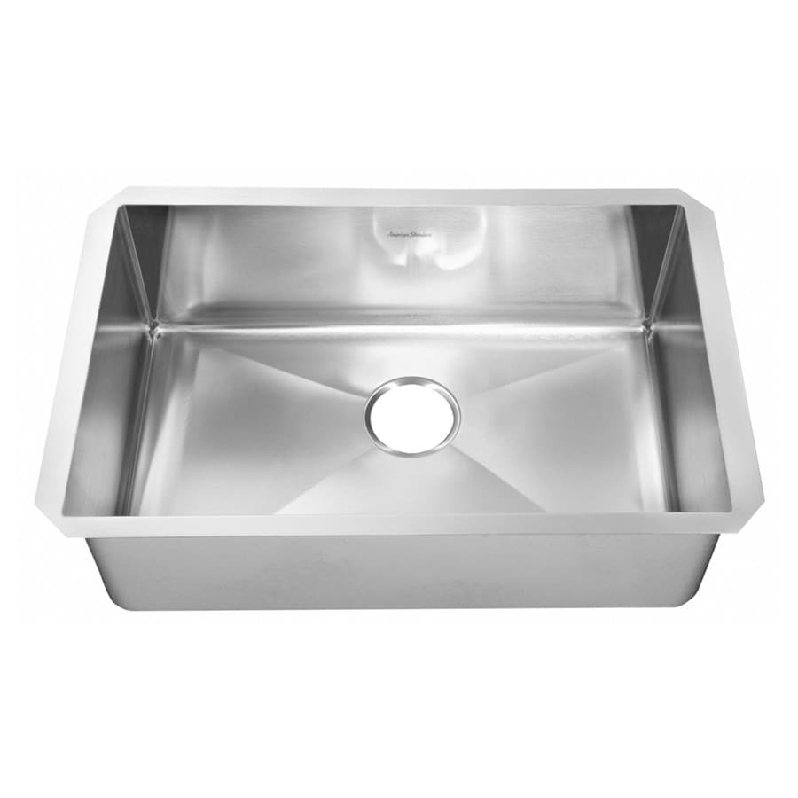Shop american standard 18 0 in x 35 0 in single basin stainless steel undermount residential - American standard kitchen sink ...