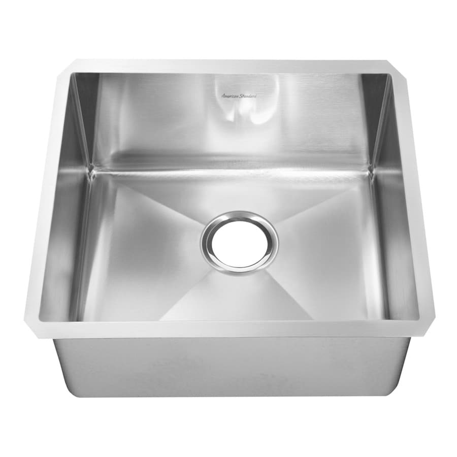 Shop american standard 18 0 in x 23 0 in single basin stainless steel undermount residential - American made stainless steel sinks ...