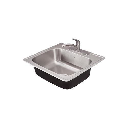 American Standard Drop In 25 In X 22 In Stainless Steel Single Bowl 3 Hole Kitchen Sink In The Kitchen Sinks Department At Lowes Com