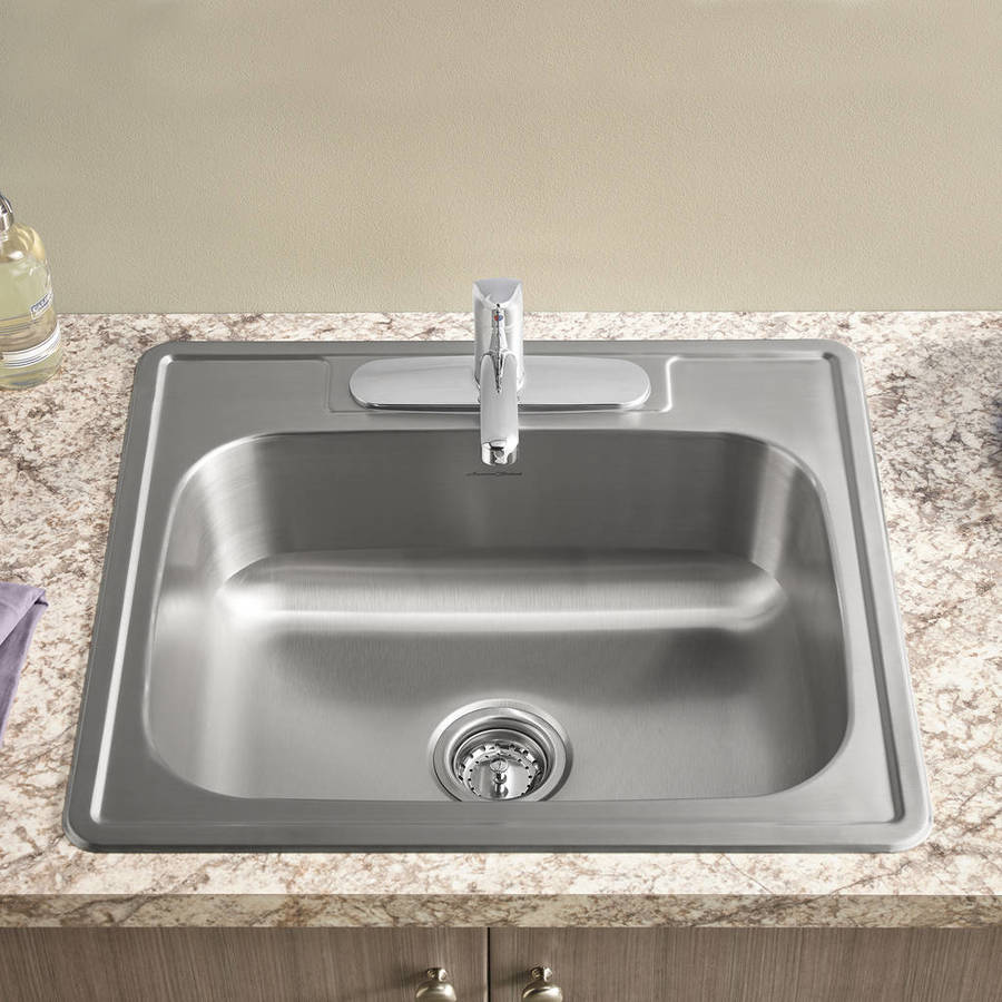 Shop American Standard 22 0 In X 25 0 In Single Basin Stainless Steel Drop In 3 Hole Residential