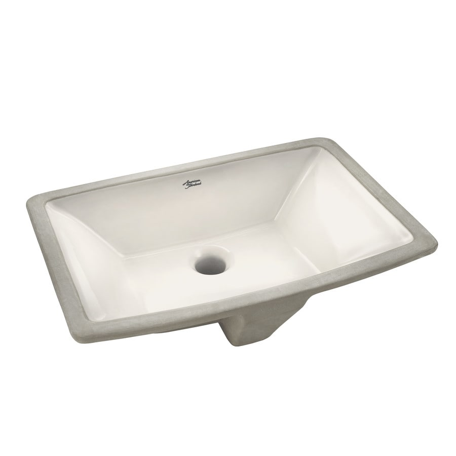 American Standard Townsend Linen  Rectangular Undermount Bathroom Sink Overflow Drain