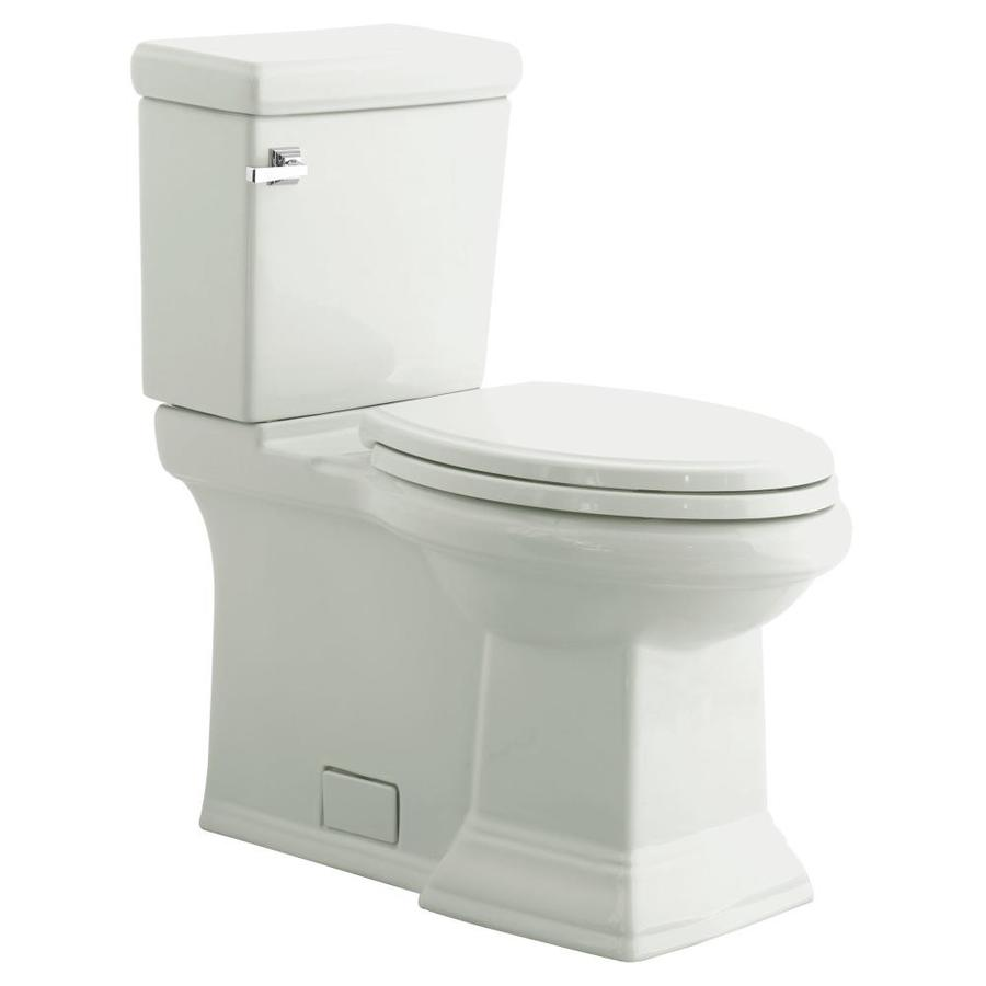 American Standard Town Square White WaterSense Labeled  Elongated Standard Height 2-piece 12-in Rough-In Size
