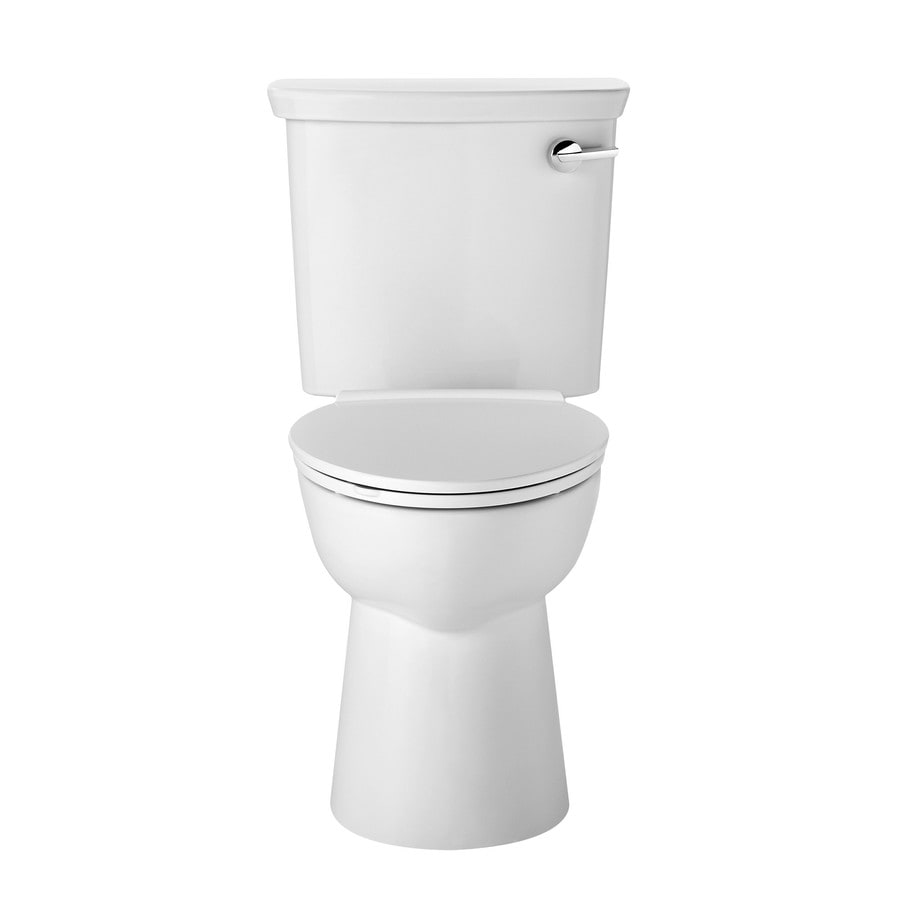 American Standard VorMax White WaterSense Labeled  Elongated Standard Height 2-piece Toilet 12-in Rough-In Size